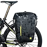CamGo Bike Rear Seat Bag – 25L Bicycle Rear Pannier Waterproof Bicycle Storage Pouch Shoulder Bag with Rubber Handle and Phone Pocket