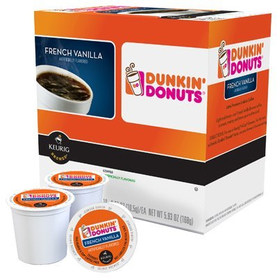 Dunkin Donuts French Vanilla Flavored Coffee K-Cups For Keurig K Cup Brewers (16 Count)
