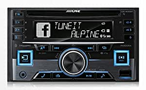 amazon com alpine cde w265bt double din bluetooth in dash cd am fm subwoofer wiring diagrams car stereo receivers