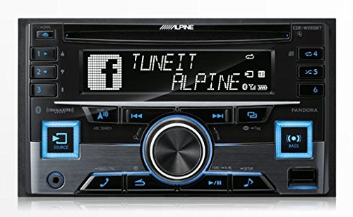 Alpine CDE-W265BT Double DIN Bluetooth in-Dash CD/AM/FM Receiver w/App Direct Mode (Alpine Iphone Car Stereo)