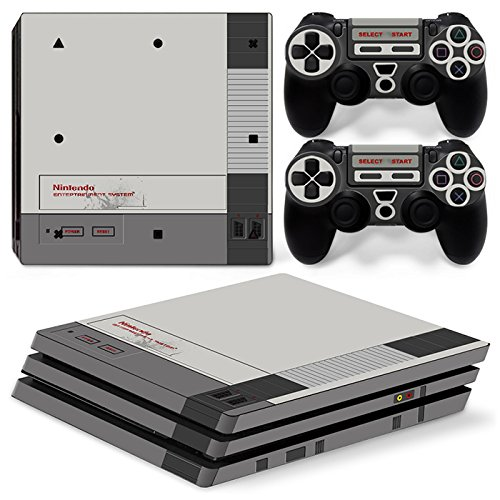 ZoomHit Ps4 PRO Playstation 4 Console Skin Decal Sticker Retro + 2 Controller Skins Set