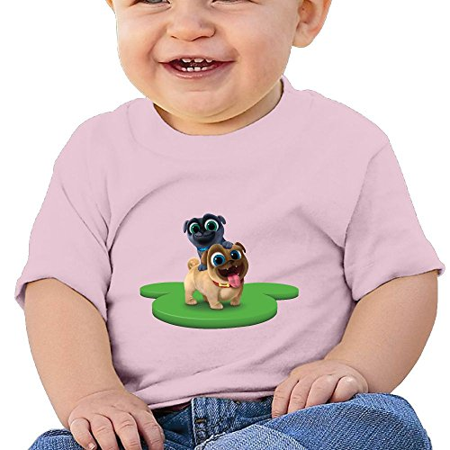 Ssuac Yi66 Puppy Dog Lovely Pals Baby Boys Funny Short Sleeve Tank Top Cotton T-Shirt Pink 18 Months (Carter Aaron Shirt)