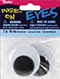 Wiggle Eyes 40mm Black (8 Pack)