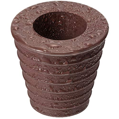 Pelopy 1 Pack Umbrella Cone Wedge for Patio Table Hole Opening or Parasol Base Stand 1.8 to 2.4 Inch, Umbrella Pole Diameter 1 1/2 Inch/ 38 mm (1 Pack, Dark Brown) (Patio Umbrella Stand Brown)