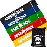 Aardvark Mini Bands – Set of 5 Loop Resistance Bands – Exercise Bands for Fitness, Strength Training and Stretch