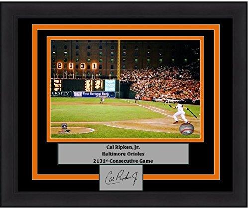 Ripken Jr Framed 8x10 Photo - Orioles Cal Ripken, Jr. 2131st Game 8