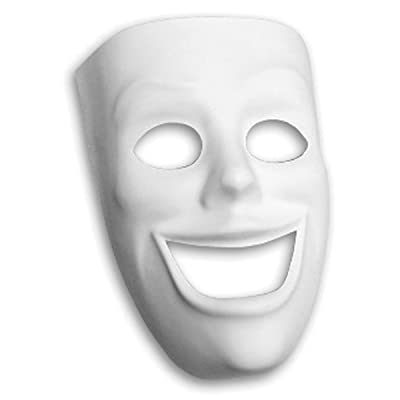 Creativity Street PM4209 Plastic Mask, Happy Face: Arts, Crafts & Sewing