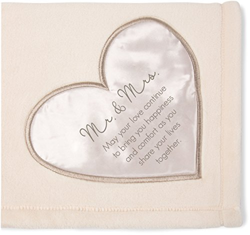 - Pavilion Gift Company Soft Mr & Mrs Thick Warm Royal Plush Throw Blanket