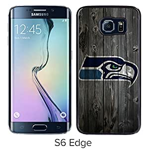 Beautiful Designed Case With Seattle Seahawks 5 Black For Samsung Galaxy S6 Edge Phone Case