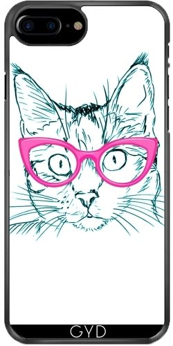 Coque pour Iphone 7 Plus / 8 Plus (5,5'') - Cute Sweet Hipster Chat by WonderfulDreamPicture