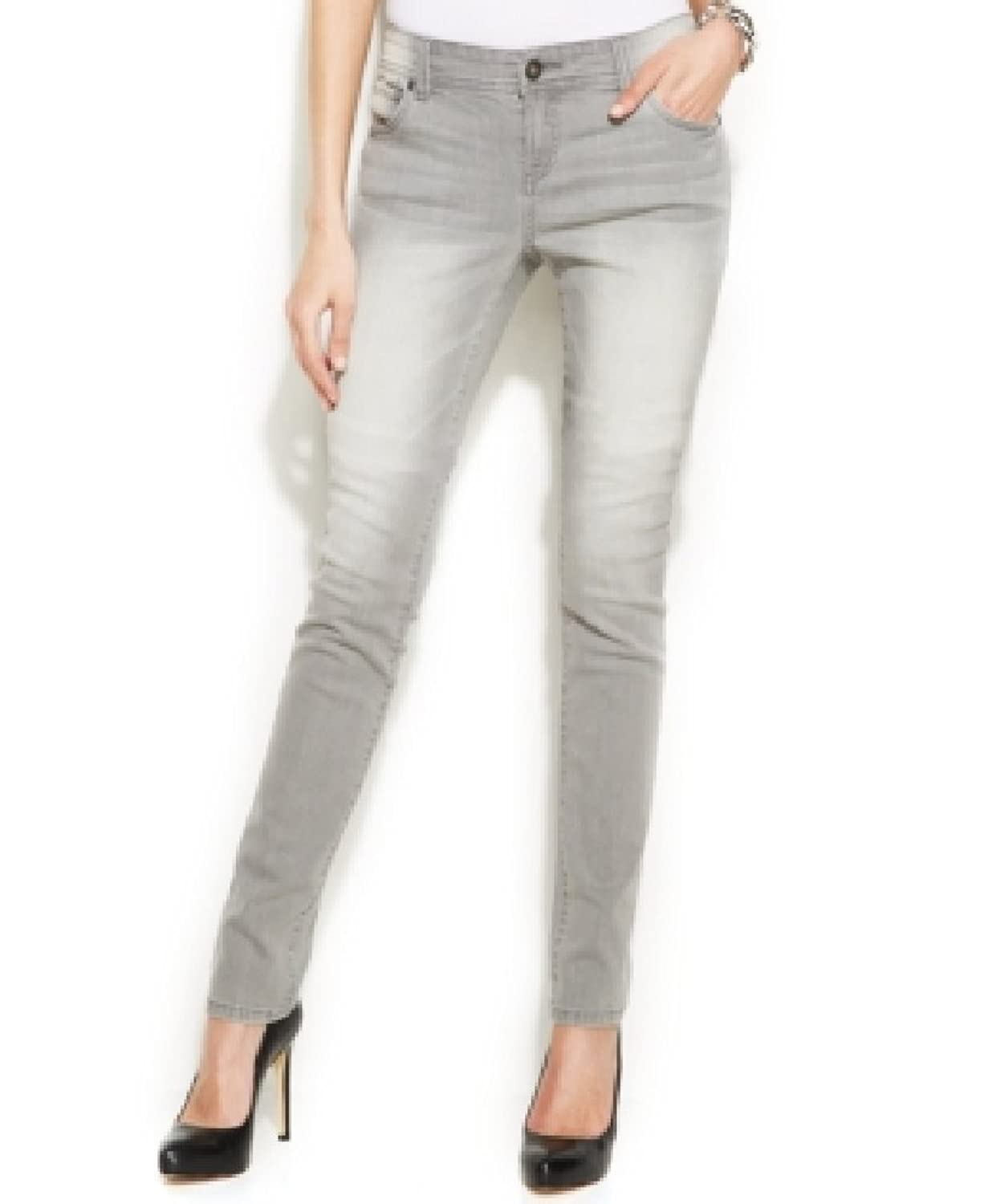 Inc Shadow Grey 5 Pocket Skinny Leg Regular Fit Denim Jeans Womens (10)