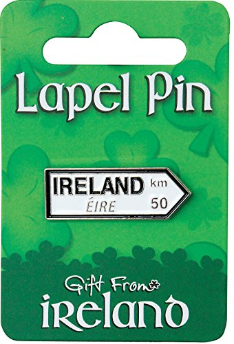 Gift from Ireland Lapel Pin - Ireland Signpost -