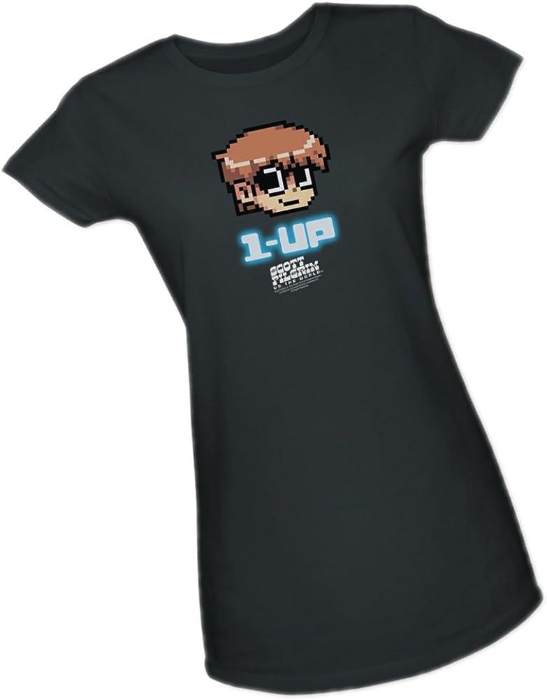 Shirt Scott Pilgrim 1 Up Adult Ringer T