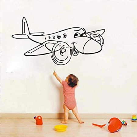 caowenhao Juguete Infantil de Dibujos Animados avión de ...