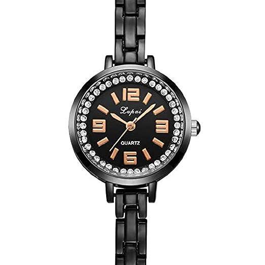 Mujeres Relojes de Cuarzo Liquidación Relojes de Cristal Crystal Diamond en Oferta Relojes de señora Relojes