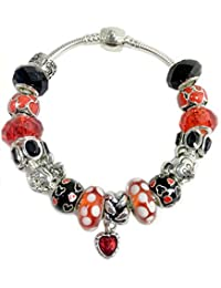 """Mickey and Minnie Mouse Bracelet Jewelry -""""Believe in Magic That Holds the Love and Heart Forever""""- Bead Charm Bracelet Gift for Women, Wife, Sister, Aunt or Teacher"""