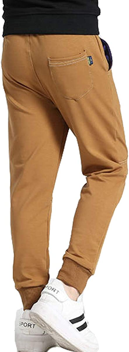 OnlyAngel Boys Casual Sports Pants Elastic Waist Jogging Pants Age 5-13 Yeaes