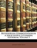 Repertorium Commentationum a Societatibus Litterariis Editorum, Jeremias David Reuss, 1147416079