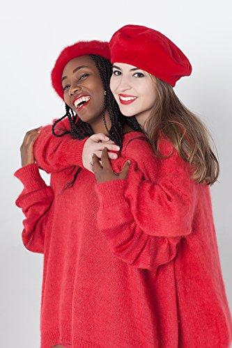 Love sweater Friendship sweater Best friends sweater Best friend gift Red oversized pullover Red designer knitwear Luxury knit by Esh by esh