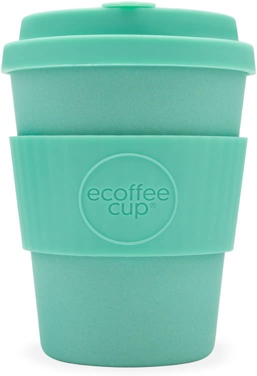 Reusable Sustainable To-Go Travel Coffee-Cup - Ecoffee Cup - Portable Natural Bamboo Fiber Cups With No Leak Silicone Lid - Dishwasher Safe (12oz, Inca)