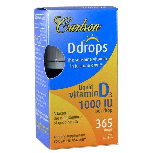 Carlson Ddrops Liquid Vitamin 0 34 Fluid