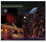 Star Shower Lights Solar Powered Outdoor Star Projector Red Light Waterproof Motion Decorative for Dancing Christmas Garden Suneng Power