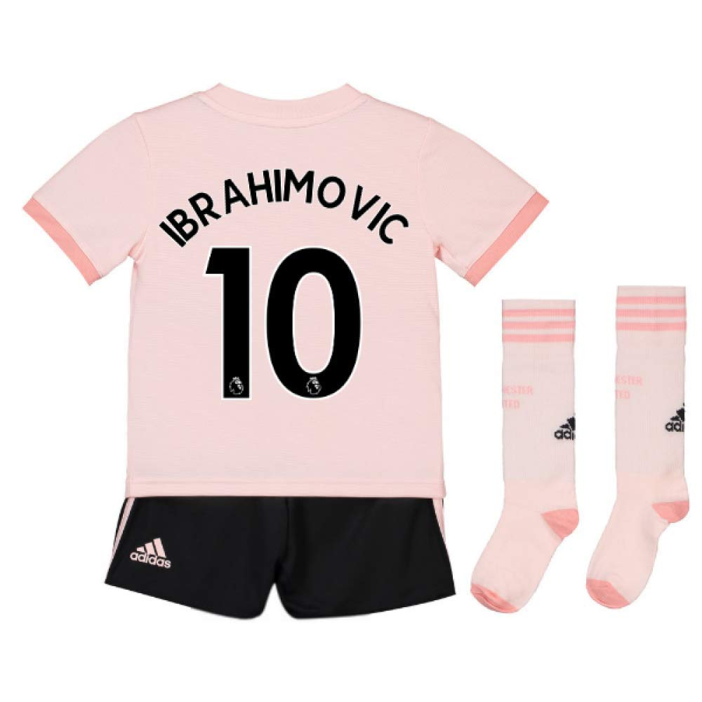 UKSoccershop 2018-19 Man Utd Away Mini Kit (Zlatan Ibrahimovic 10)