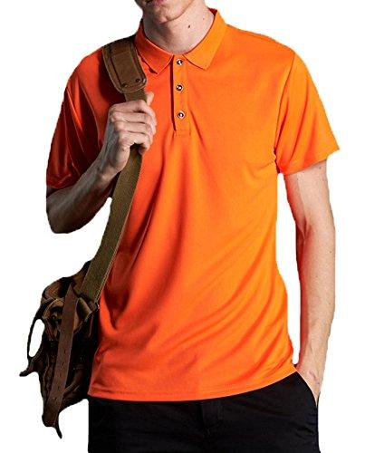 見る人罪命令的Faston ポロシャツ メンズ 半袖 ポロシャツ ドライ ゴルフウエア [吸汗速乾 抗菌防臭 UVカット] 3釦仕様です カジュアル スポーツ おしゃれ トップス 夏服 メンズ FA023
