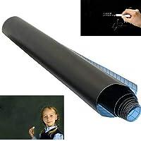 Sasaply PVC Black Adhesive Chalkboard Stickers Removable Graffiti Writing Board Poster Board