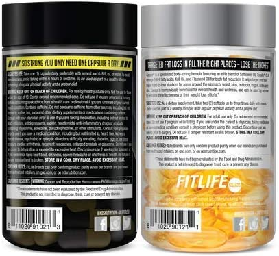 NDS Nutrition Maximum Strength Dual Impact Stack - Complete 2-in-1 Fat Loss Stack Enhanced with Teacrine, L-Carnitine, CLA for Serious Results - Censor 90 Softgels & LipoRush XT 60 Capsules 9