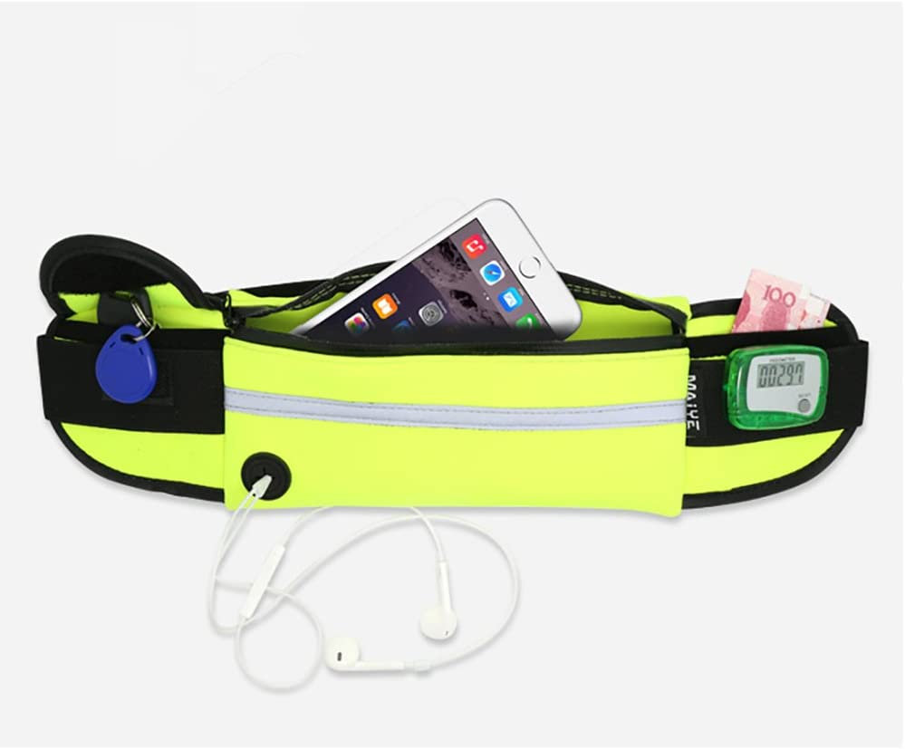 Aikesi Deportes Ri/ñonera Ajustado Bolsa de Cintura Azul 9,5CM Estilo Deportivo y de Ocio,Poli/éster Impermeable Size 40