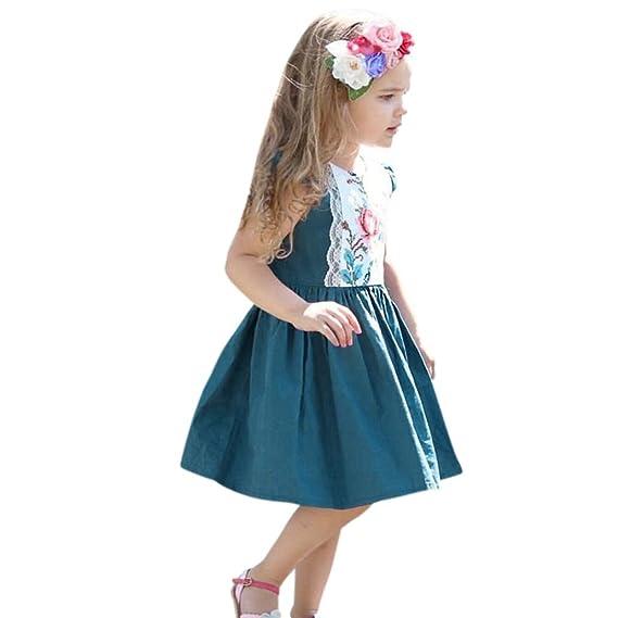 vestidos de niña, ASHOP Vestido de flores con volantes de encaje cremallera vestidos de fiesta