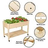 LYNSLIM Wooden Raised Garden Bed with Wheels