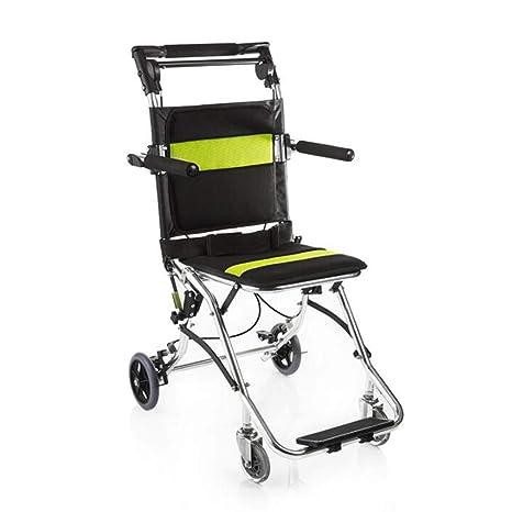 FLRGLY Silla de Ruedas portátil, aleación de Aluminio Old Man Light Fold Scooter para Silla