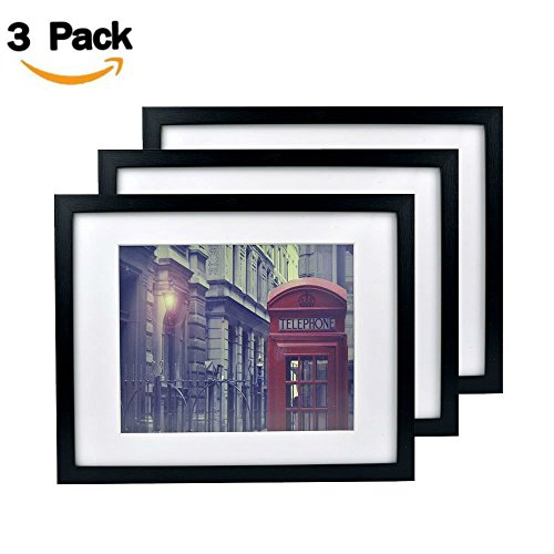 ShuangChuang 3-Pack 11x14 Black Picture Frames - Made to Dis