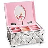 Lenox Childhood Memories Musical Ballerina Personalized Jewelry Box, Jewelry Storage Chest, Engraved Jewelry Box