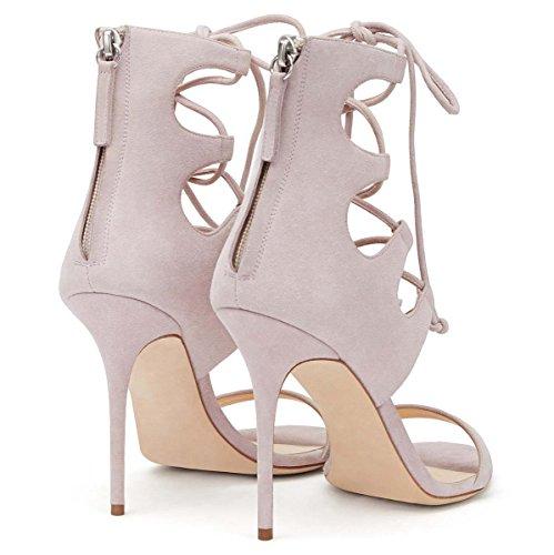 SHEO sandalias de tacón alto Sandalias de tacón alto de tacón alto con sandalias Pink