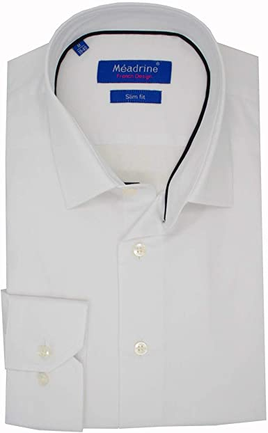 Meadrine Traje Camisa Blanca unida Hombre Blanco: Amazon.es: Ropa y accesorios