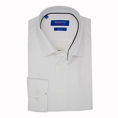 Meadrine Traje Camisa Blanca unida Hombre Blanco: Amazon.es ...