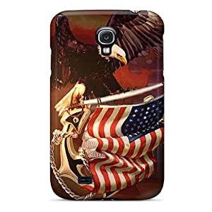 Shockproof Cell-phone Hard Covers For Samsung Galaxy S4 (Odo14406EUWr) Provide Private Custom Fashion Patriotic Pictures