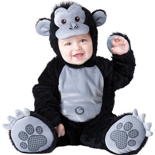 Cuddly Monkey Toddler Costumes (Goofy Gorilla Baby Infant Costume - Infant Medium)