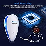 Ultrasonic Pest Repeller (4 PACK) - Electronic Mouse Bug Repellent & Mosquito Pest Control Plug in Rat Repellent Indoor for Insects - Mice,Rat,Bug,Spider,Mosquito,Flea,Roach,Ant,Fly[2018 UPGRADED]