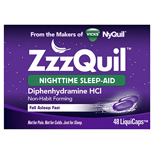 [지퀼] Vicks ZzzQuil Nighttime Sleep Aid, Non-Habit Forming, Fall Asleep Fast and Wake Refreshed, 48 Ct LiquiCaps [수면유도제]