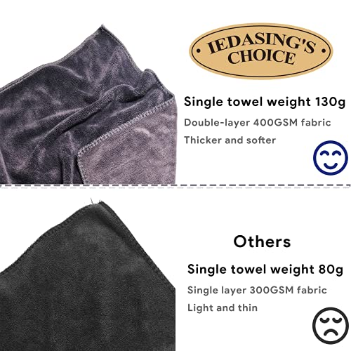 IEDASING\'S CHOICE Dog Towel Pet Towel Microfiber Material 2 Pack Super Absorbent Quick Drying Machine Washable Suitable for Dog Puppy Pet Bathing Beach and Multi-Use, 31inch,Sealed Package