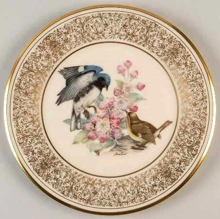 Lenox 1980 Boehm Bird Plate Black Throated Blue Warbler Ltd (Lenox Bird Plate)