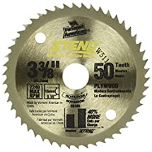 Vermont American 26105 15mm Arbor 3-3/8-Inch 50 Tooth Xtend Fine Finish Cordless Circular Saw Blade
