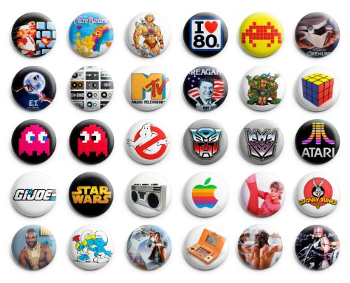 1980's Button Pin - 5