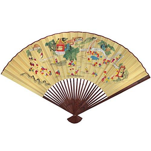 Oriental Furniture Oriental Children Wall Fan #7 - (Size: 60