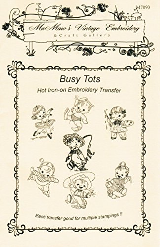 Busy Tots Children at Play Hot Iron Embroidery Transfers ()