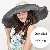 Summer Sun Visor Hat/Sun Hat Along Big Hat/Women's UV Sun Hat (Color : Beige)